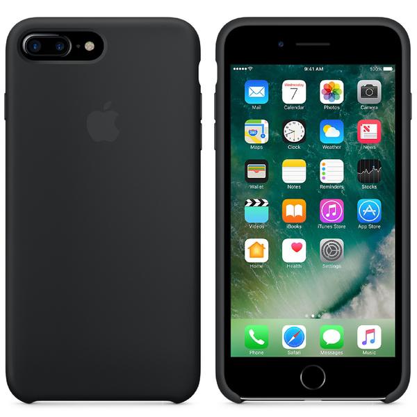 Étui en Silicone pour iPhone 7 Plus -Noir
