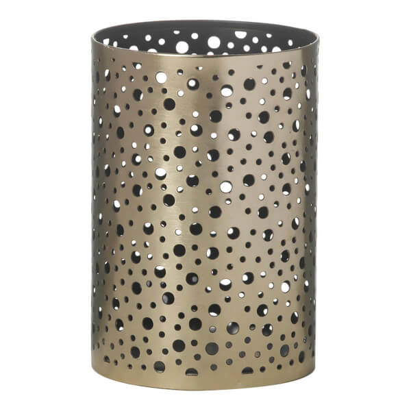 Parlane Gaya Metal Tealight Holder - Black/Gold (13.5 x 9cm)