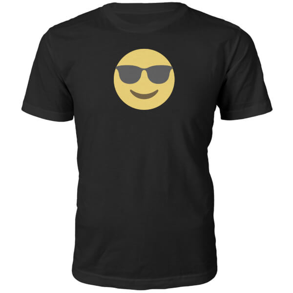 Emoji Unisex Cool Dude T-Shirt - Black