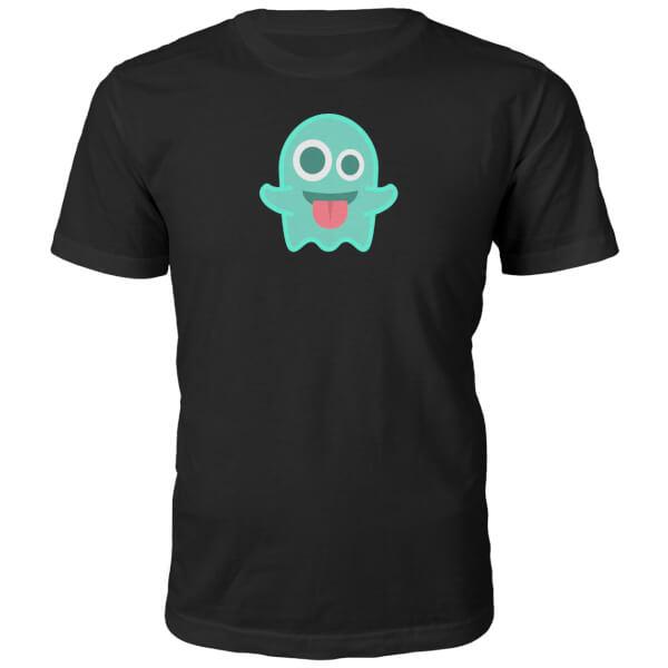 Emoji Unisex Ghost Face T-Shirt - Black