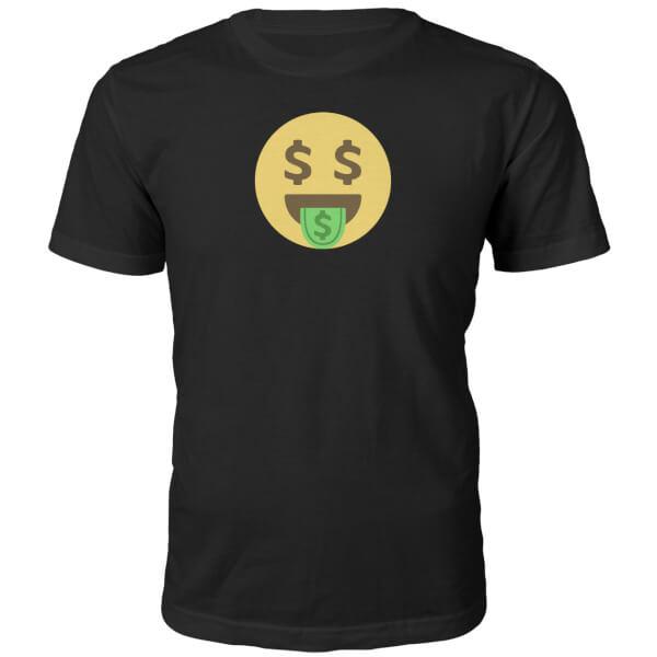 Emoji Unisex Dolla Dolla Dolla Face T-Shirt - Black