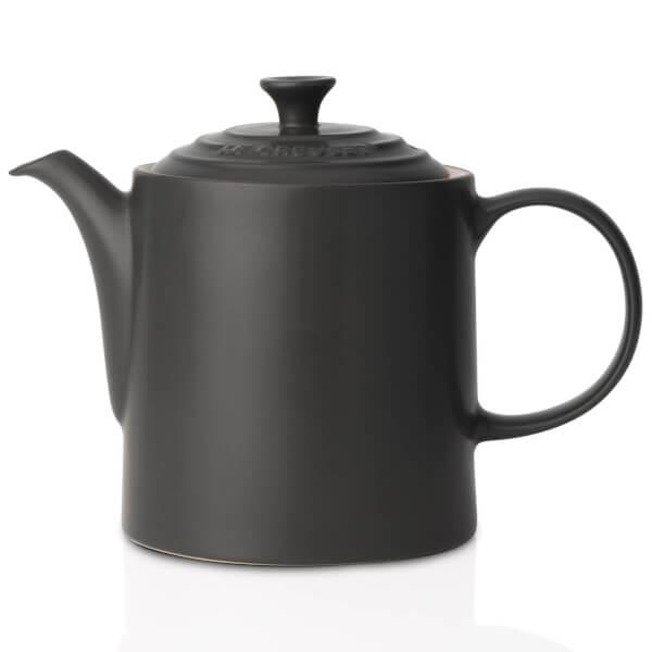 Le Creuset Stoneware Grand Teapot - Satin Black