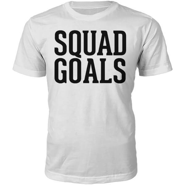 Squad Goals Slogan T-Shirt - White