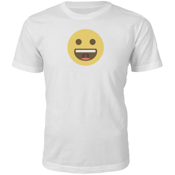 Emoji Unisex Big Smile T-Shirt - White