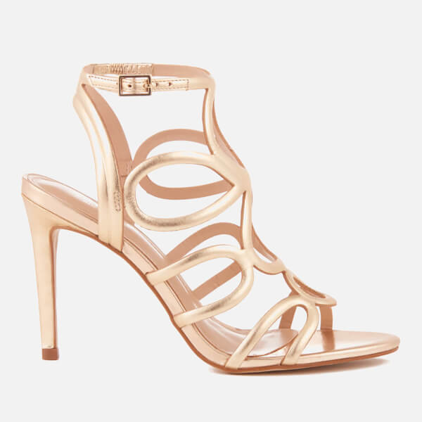 Carvela Women's Gabby Leather Strappy Heeled Sandals - Gold