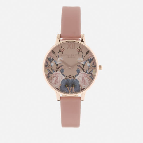 Olivia Burton Women's Enchanted Garden Watch - Rose/Rose Gold