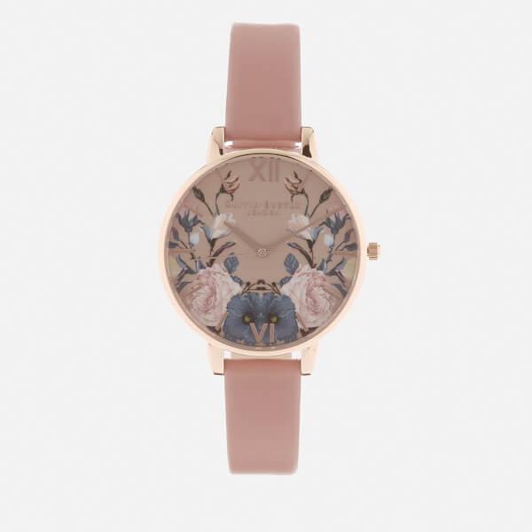 Olivia Burton Women's Enchanted Garden Watch - Rose/Rose Gold
