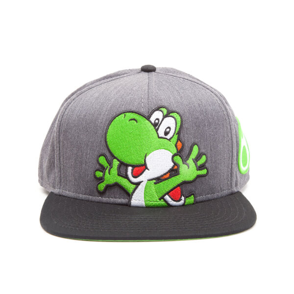 Nintendo Super Mario Generic Snapback Cap with Yoshi and Egg - Grey