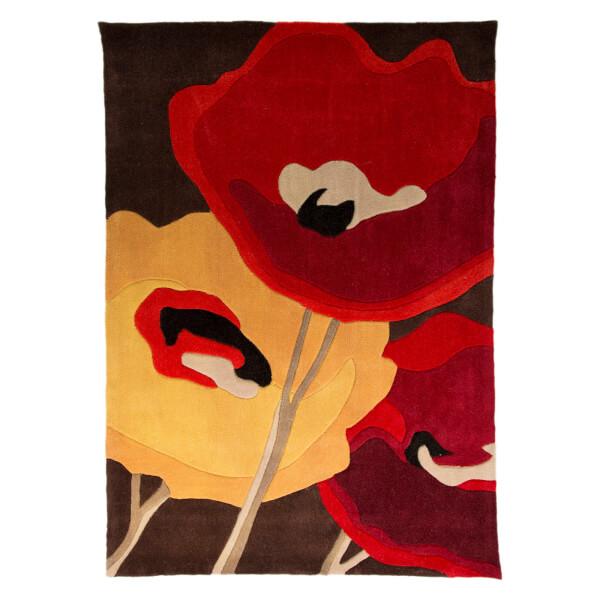 Flair infinite mod rug art poppy flowers chocolateorange homeware flair infinite mod rug art poppy flowers chocolateorange image 1 mightylinksfo