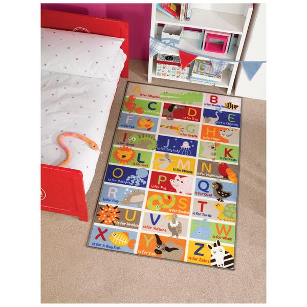 Flair Matrix Kiddy Rug - Abc Multi (100X160)