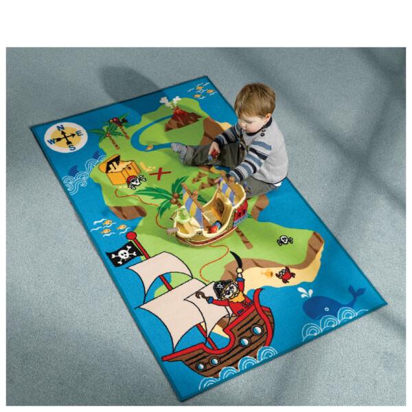 Flair Matrix Kiddy Rug - Pirate Map Multi (100X160)