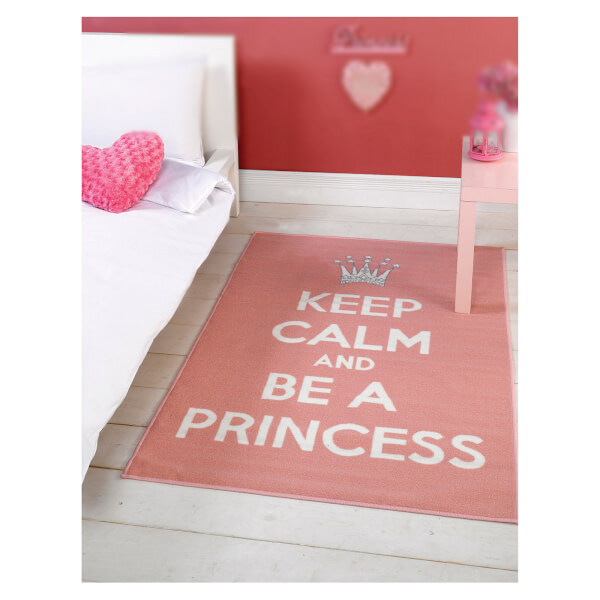 Flair Matrix Themes Rug - Be A Princess Pink/White(100X160)