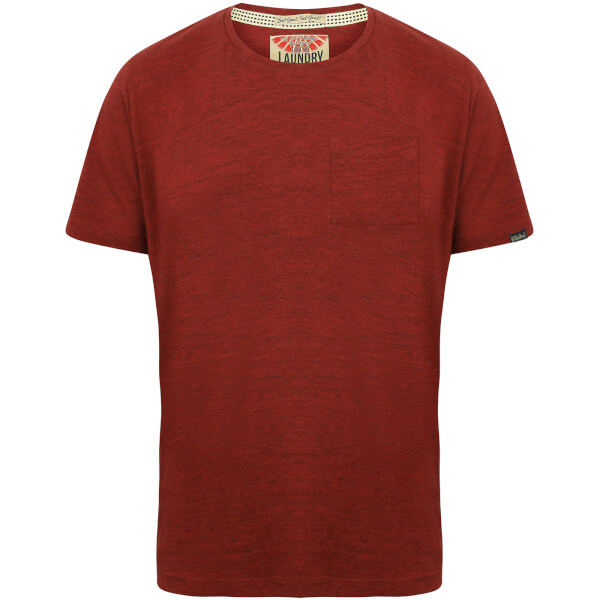 Tokyo Laundry Men's Textured Grotto T-Shirt - Oxblood Red