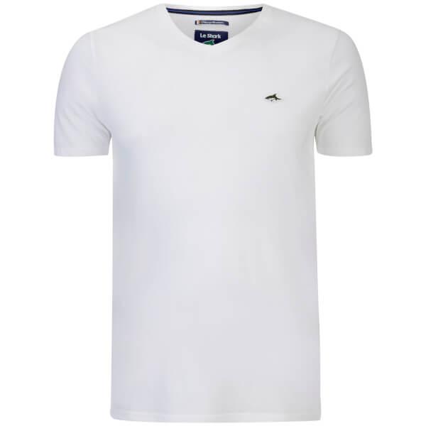 Le Shark Men's Glasshouse V Neck T-Shirt - Optic White