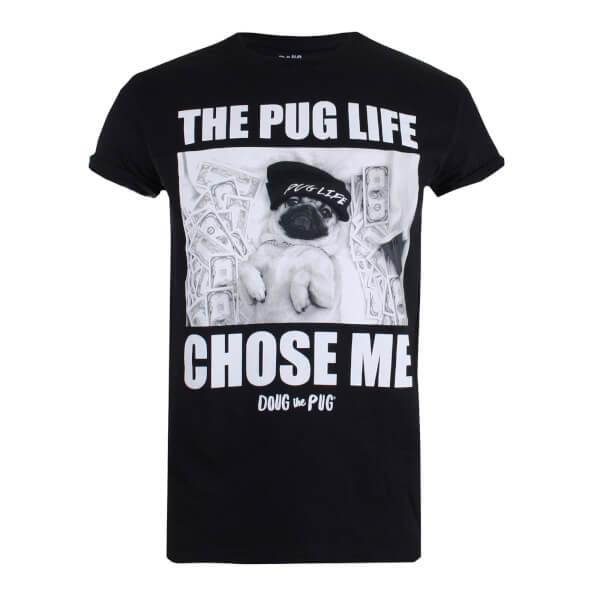Doug The Pug Women's Chose Me T-Shirt - Black