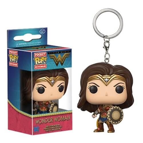 Dc Wonder Woman Pocket Pop Keychain Merchandise Zavvi