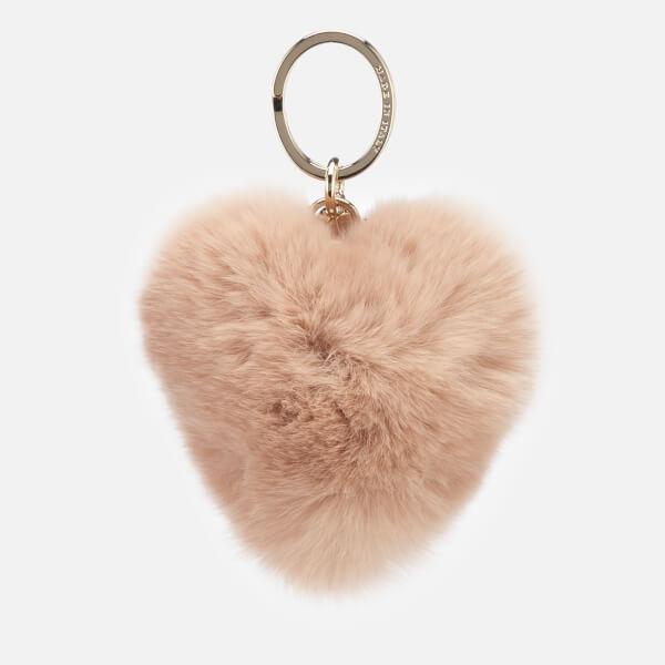 Furla Women's Bubble Pom Pom Cuore Keyring - Moonstone