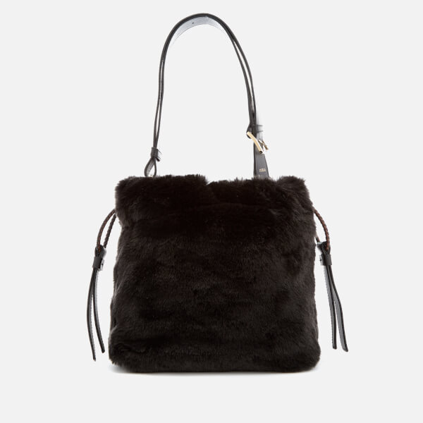 Furla Women's Caos Small Drawstring Bag - Black