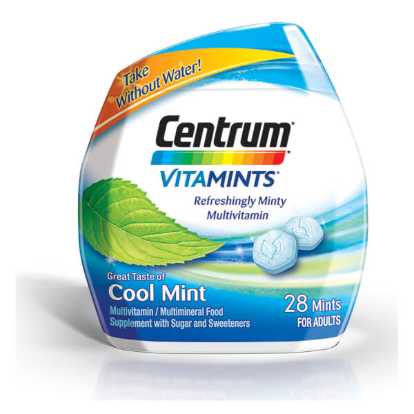 Centrum VitaMint Cool Mint Tablets (28 Tablets)