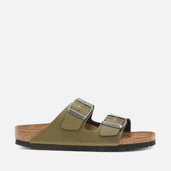 db57c6d9d6d6 Birkenstock Women s Arizona Slim Fit Pull Up Double Strap Sandals - Olive   Image 1