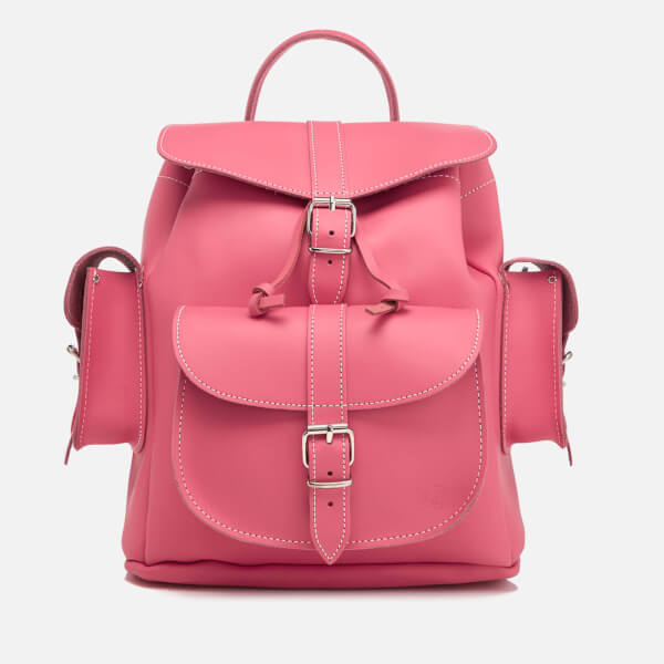 Grafea Women's Medium Leather Rucksack - Dahlia