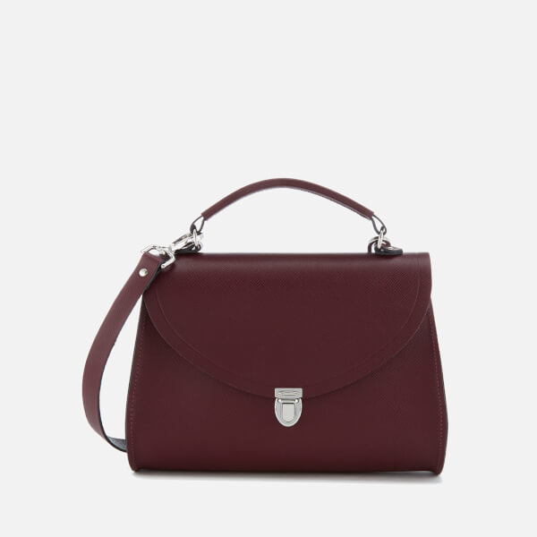 The Cambridge Satchel Company Women's Poppy Bag - Oxblood Red Saffiano