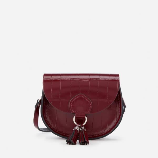 The Cambridge Satchel Company Women's Mini Tassel Bag - Oxblood Patent Croc