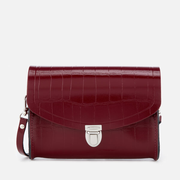 The Cambridge Satchel Company Women's Push Lock Bag - Oxblood Patent Croc