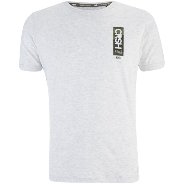 Crosshatch Men's Markab T-Shirt - Light Grey Marl