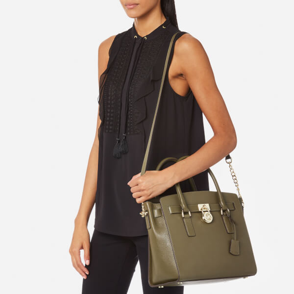 Michael Kors Women S Hamilton Large East West Satchel Olive Image 3