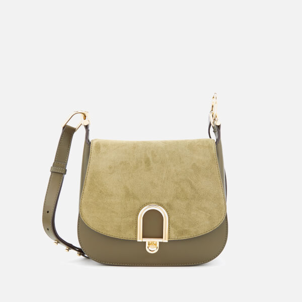 MICHAEL MICHAEL KORS Women's Delfina Large Saddle Bag - Olive