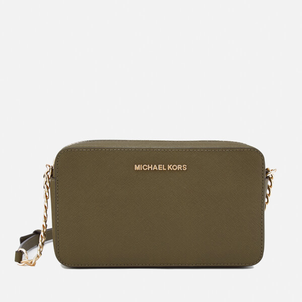 27caeb24ae29 MICHAEL MICHAEL KORS Women s Jet Set Medium East West Cross Body Bag - Olive   Image