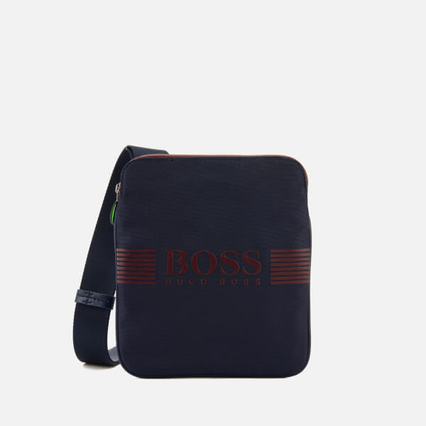 BOSS Green Men's Pixel South Zip Bag - Navy
