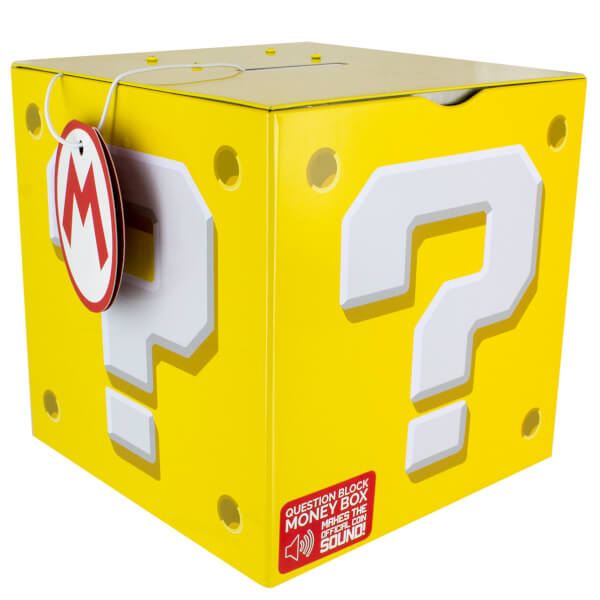 Tirelire Point d'Interrogation Nintendo Super Mario - Jaune