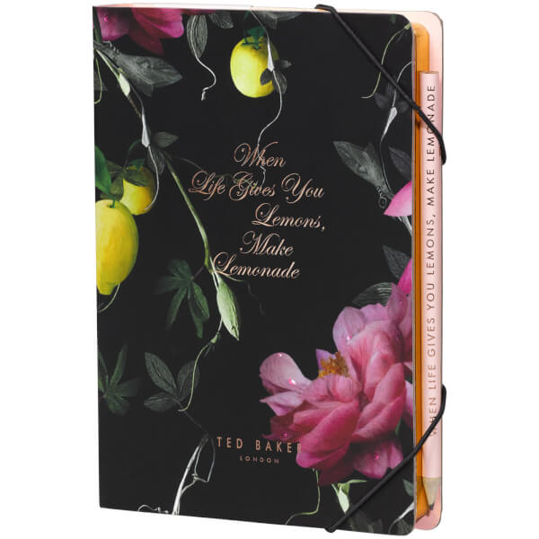 fe2e03bb3970d Ted Baker Citrus Notebook with Sticky Notes Traditional Gifts ...