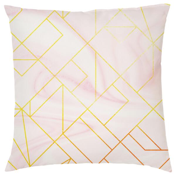 Marble Geometric Cushion - Pink