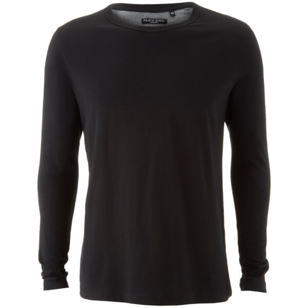Brave Soul Men's Prague Long Sleeve Top - Black