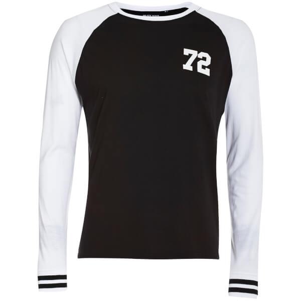 Brave Soul Men's Granite Long Sleeve Top - Black/White