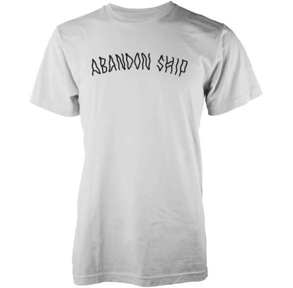 T-Shirt Homme Logo Abandon Ship -Blanc