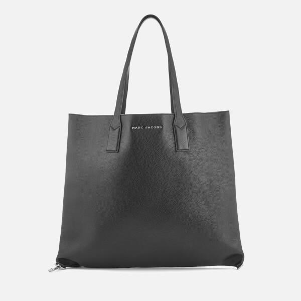 Marc Jacobs Women's The Wingman Soft Tote Bag - Black/Silver