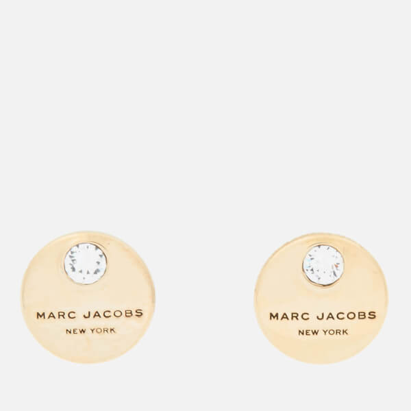 Marc Jacobs Women's MJ Coin Studs - Crystal/Gold