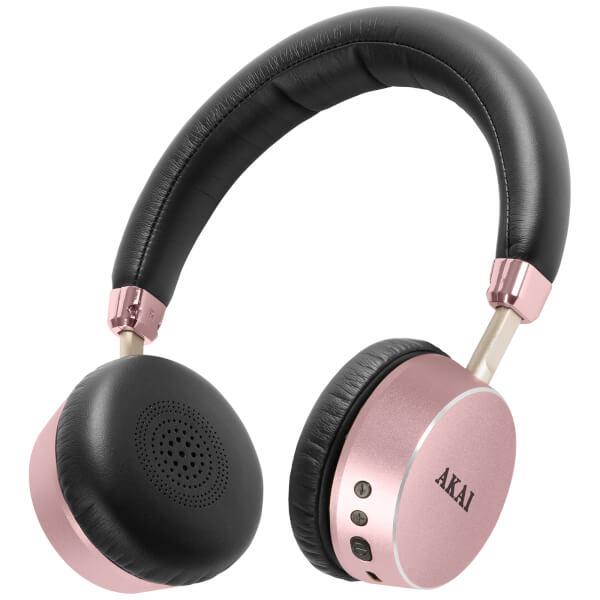 Akai DYNMX Wireless Bluetooth Headphones - Rose Gold