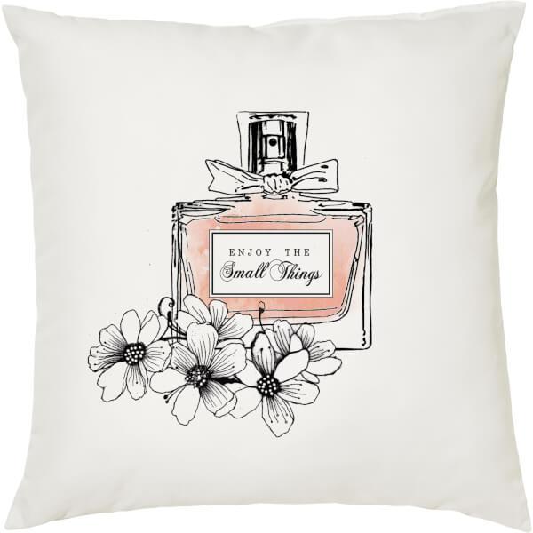 Enjoy The Small Things Cushion - White (45 x 45cm)