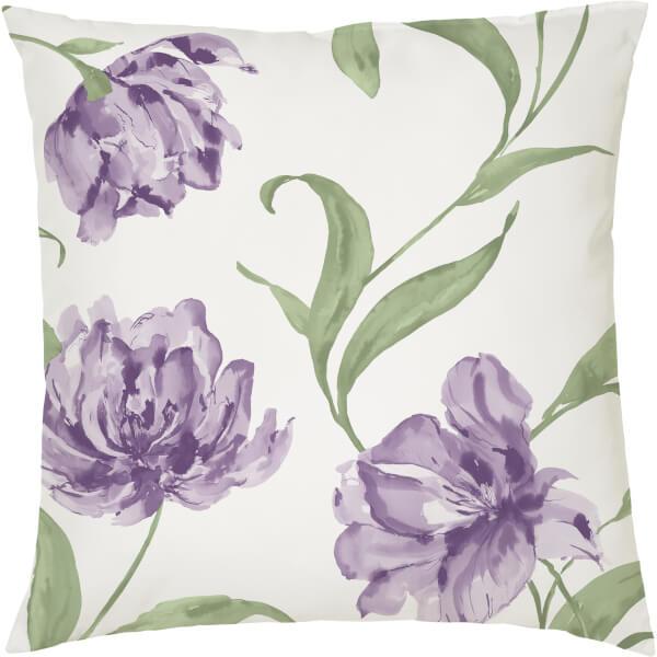 Floral Cushion - White (45 x 45cm)