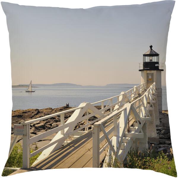 Lighthouse Pier Cushion - Blue (45 x 45cm)