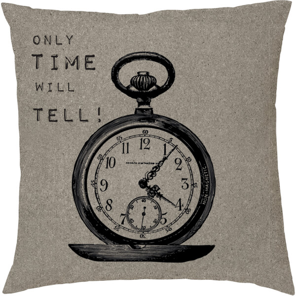 Coussin Imprimé Time Will Tell -Neutral (45 x 45cm)