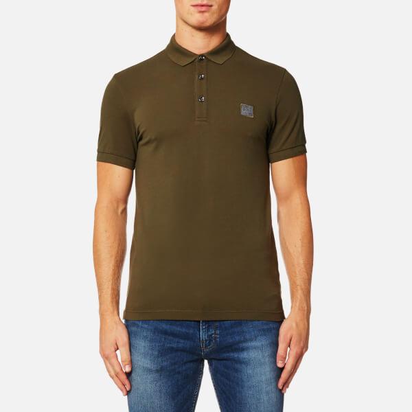 Boss orange men 39 s pavlik polo shirt dark green clothing for Dark green mens polo shirt