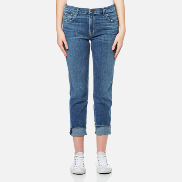 J Brand Women's Johnny Mid Rise Boy Fit Jeans - Heartbroken