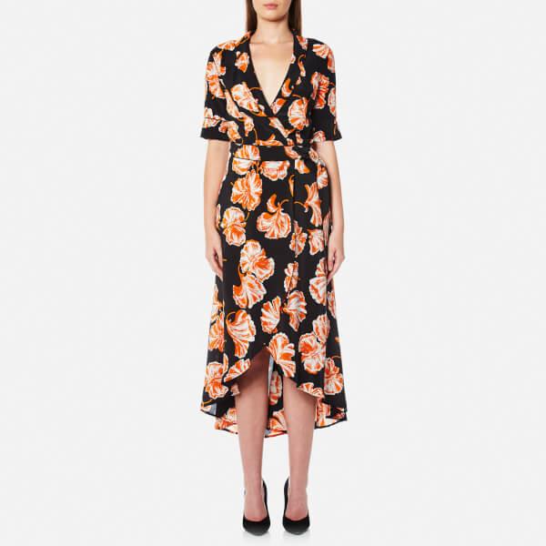 Ganni Women's Geroux Silk Dress - Black