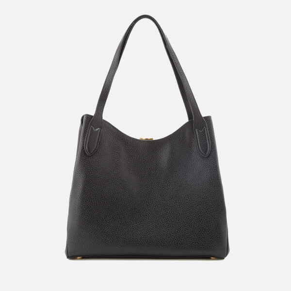 Lulu Guinness Women's Grainy Leather Jackie Tote Bag - Black
